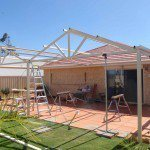 Patio Truss in place
