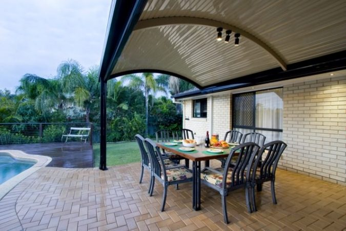 Stratco Outback® Curved Clearspan Patio